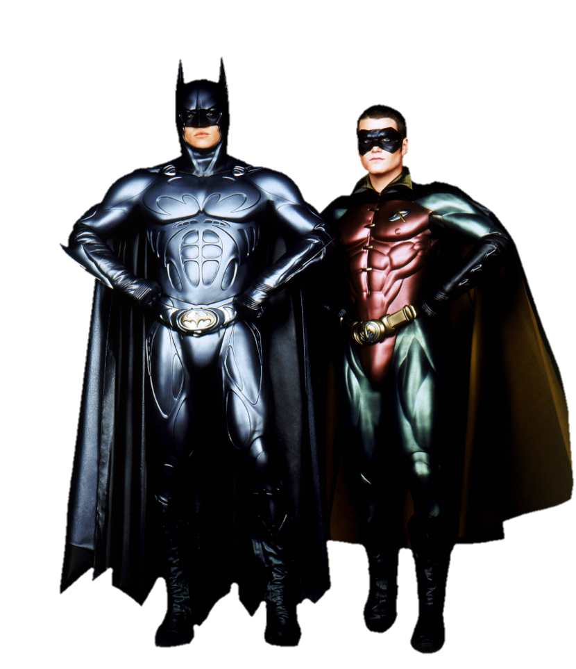 Batman & robin png. Forever and by metropolis