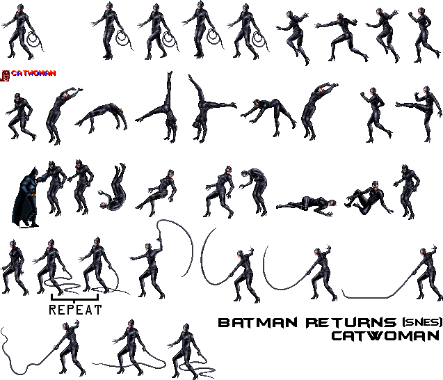 catwoman transparent video game