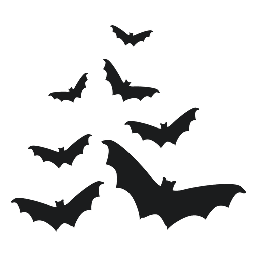 Bats silhouette png. Flying bat graphics to