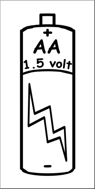 Battery AA. Clipart picture