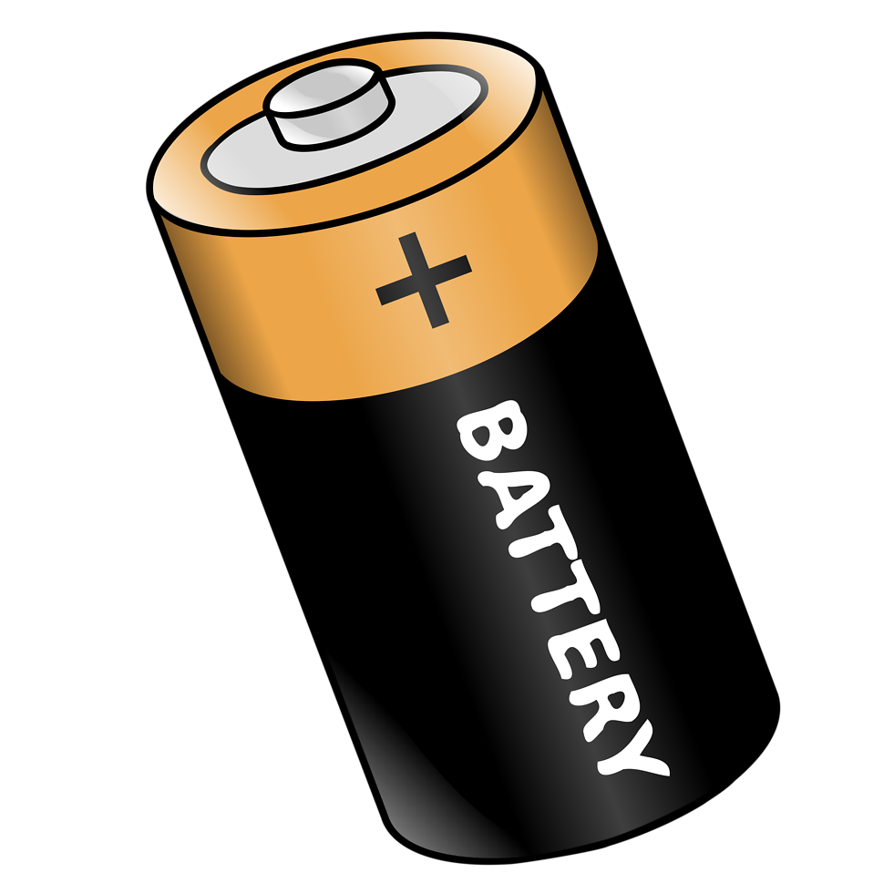 Vector battery transparent background. No clipart