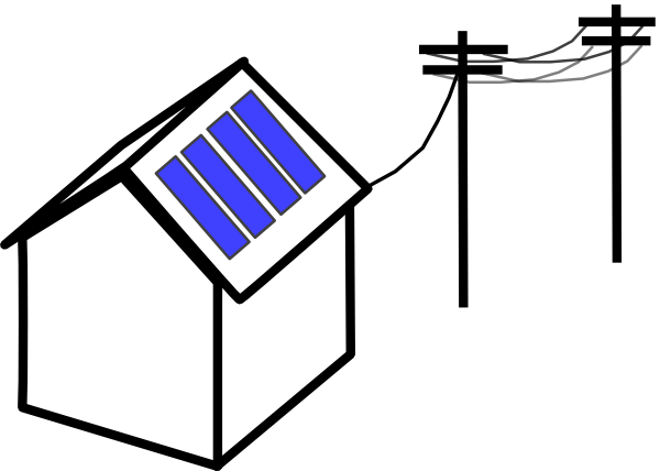 Battery clipart solar battery. House with pv and