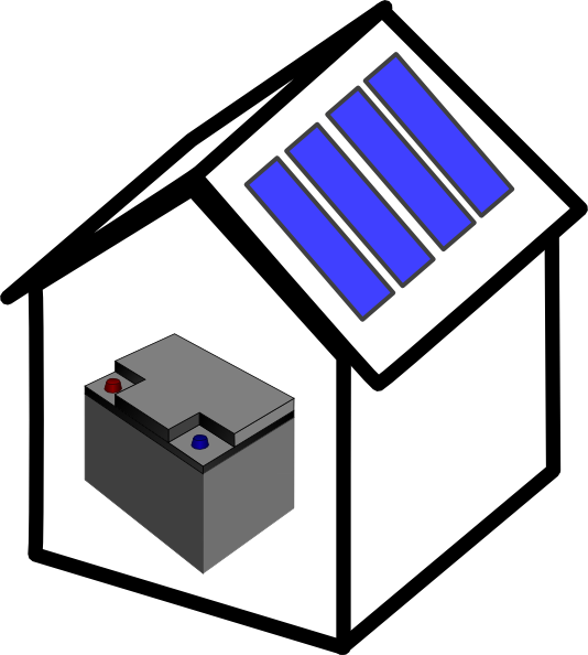 Battery clipart solar battery. House clip art at