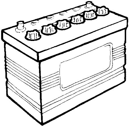 Battery clipart vehicle battery. Car panda free images