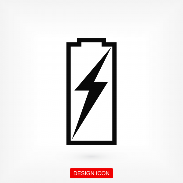 Battery load icon. Stock vector illustration