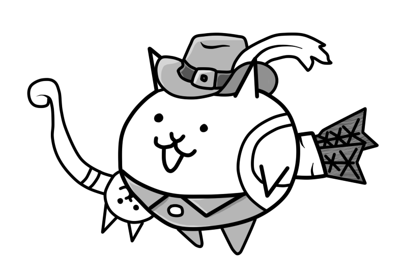 Battle cats png. The archer cat by