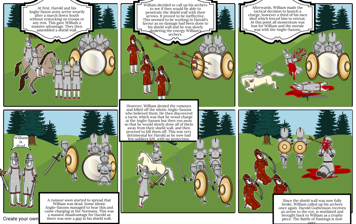 Battle clipart hastings clipart. Of storyboard by dylan