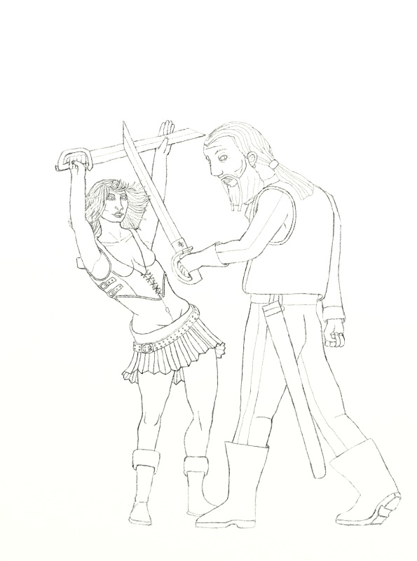 Battle clipart sword fight. Fighting poses for drawing