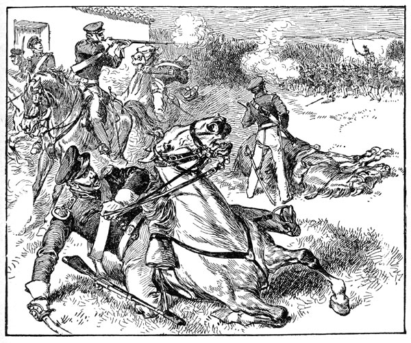 Battle clipart war mexican. American defeat of dragoons