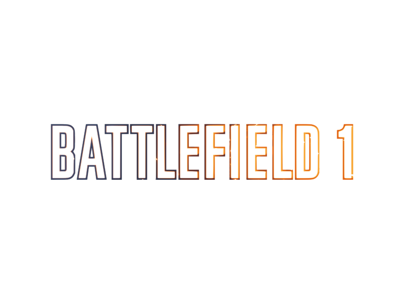 Battlefield 1 logo png. Transparent svg vector freebie