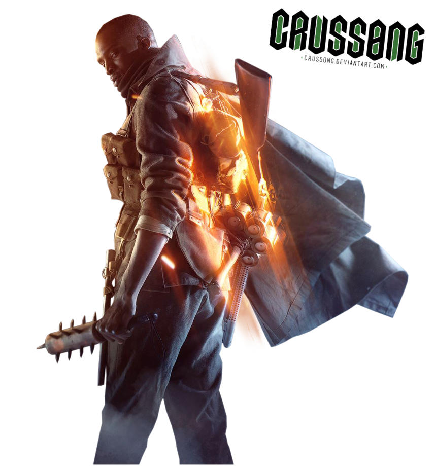 Transparent one battlefield. Soldier render by crussong