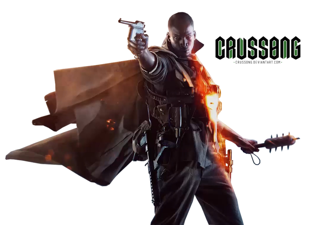 Battlefield 1 png. Soldier render by crussong