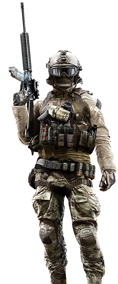 Battlefield 4 background png. High res character models