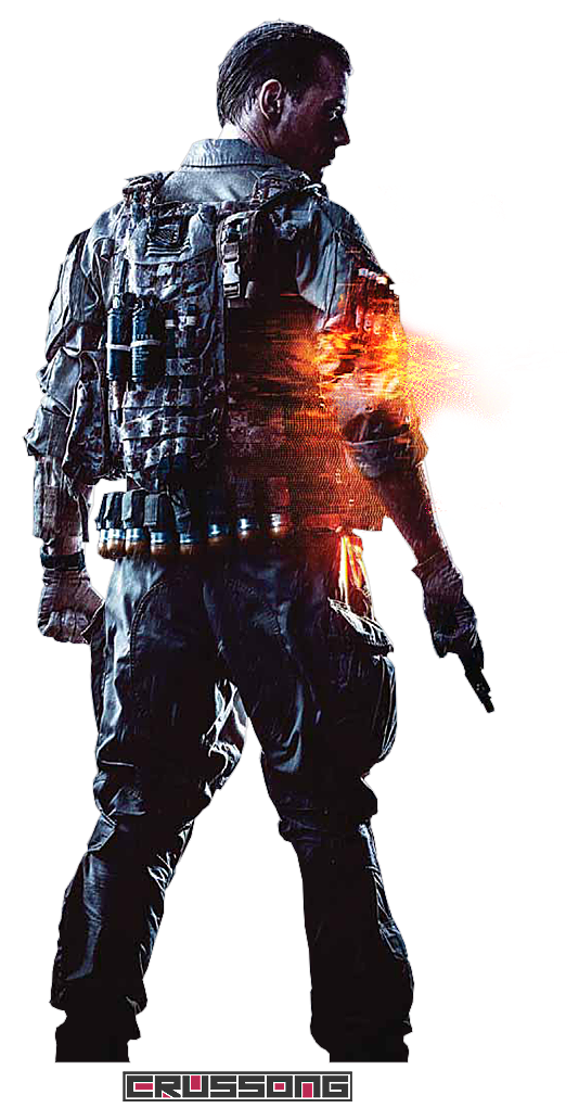 Battlefield transparent. Soldier render by crussong