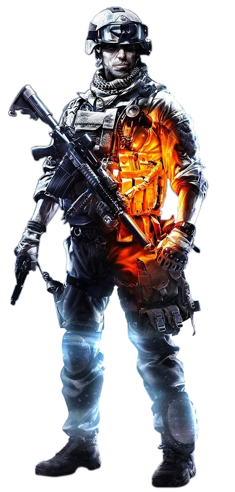 Premium soldier render by. Battlefield 3 png jpg transparent library