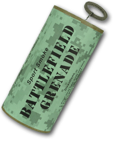 Battlefield transparent smoke. Grenade shipping included