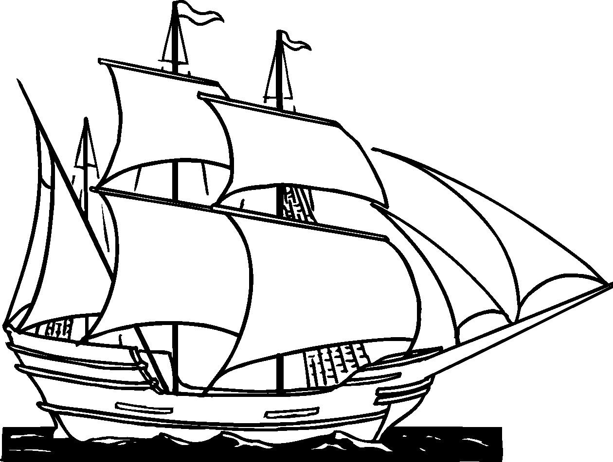 Clipper clip art cliparts. Captain clipart ship drawing banner black and white stock