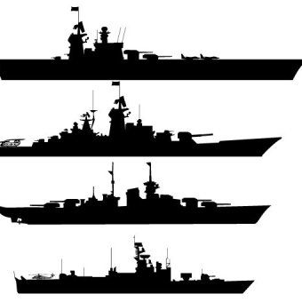 Battleship clipart broken ship. Luxury silhouettes vector vectors