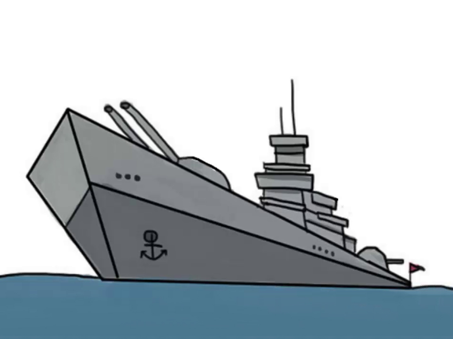 Battleship clipart broken ship. How to draw a