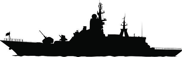 Battleship clipart broken ship. Destroyer pencil and in
