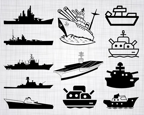 Battleship clipart vector. Svg bundle cut files