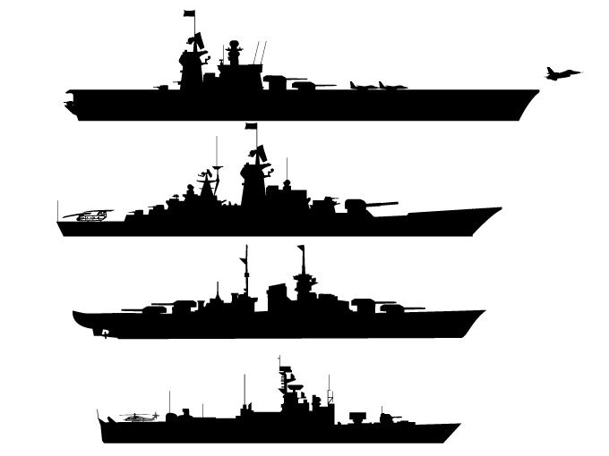 Battleship clipart vector. Free graphics silhouette pinterest