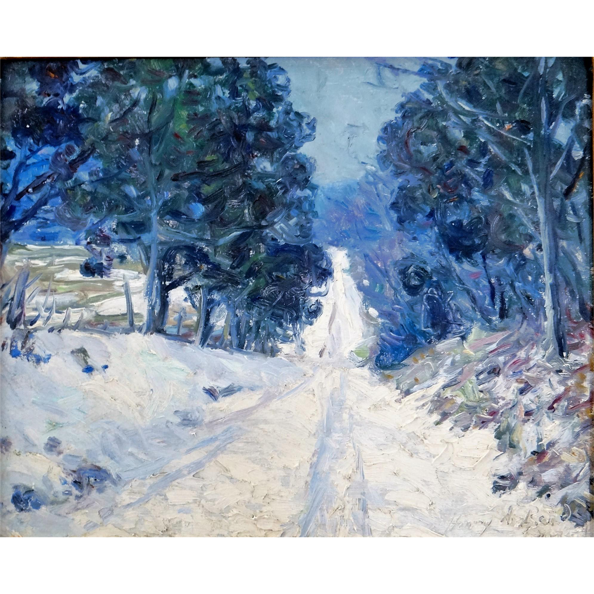 Sargent drawing landscape. Impressionist painting by henry
