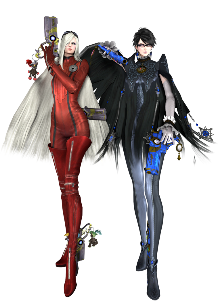 Bayonetta drawing outline. And jeanne ready to