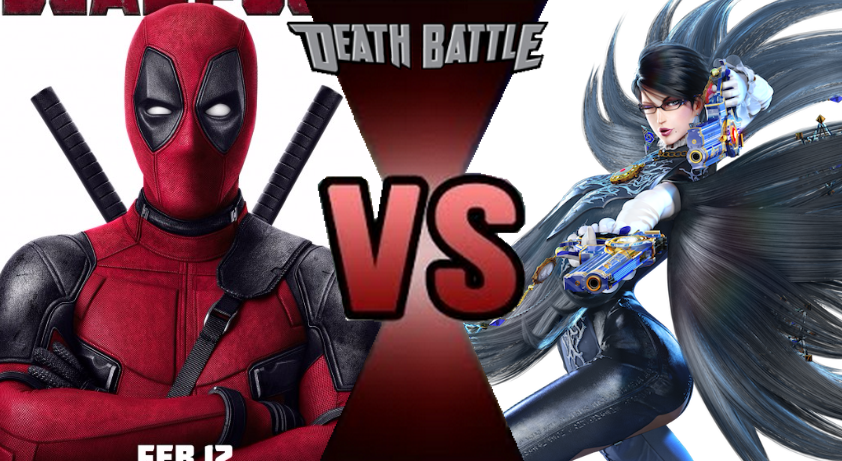 Bayonetta drawing red. Deadpool vs prelude by