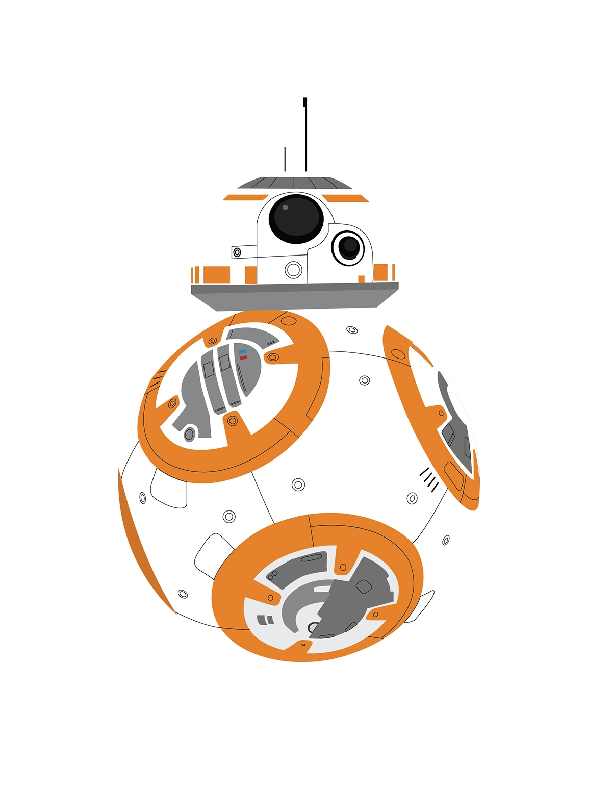 Bb8 clipart. Awesome bb design digital