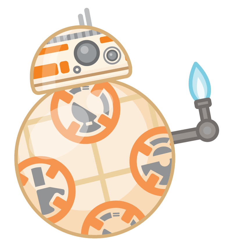 Bb8 clipart cute. Stickers for facebook chat