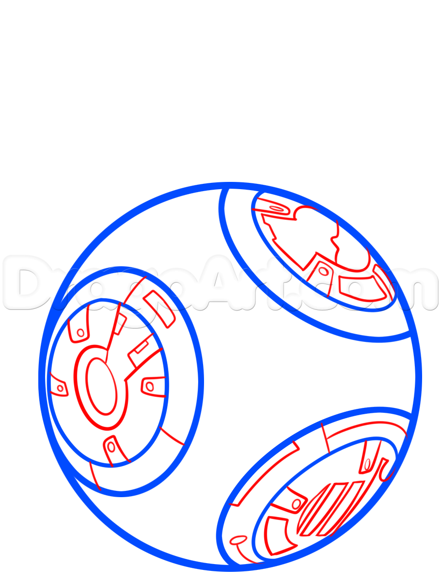 Bb8 clipart easy draw. How to bb step