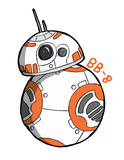 Bb drawing at getdrawings. Bb8 clipart easy draw vector black and white library