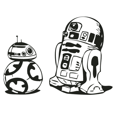 Bb8 clipart easy draw. R d drawing at