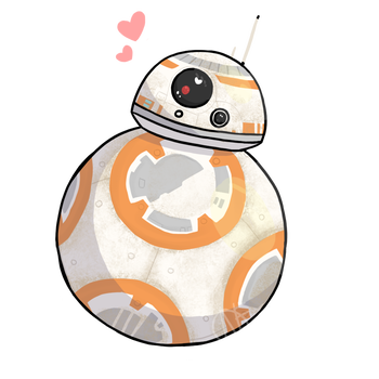 Bb8 clipart love. Droids on we star