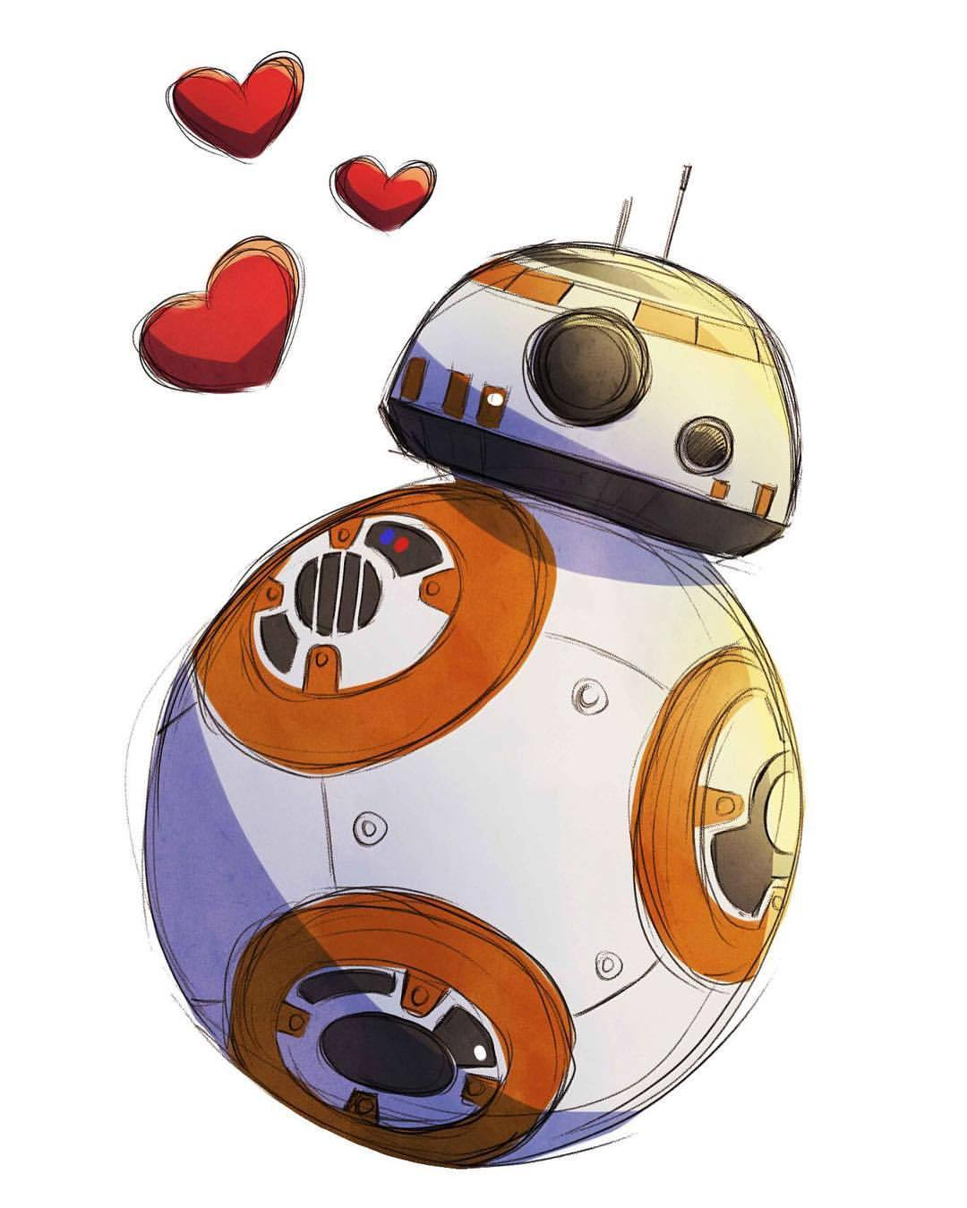 Bb8 clipart love. Nubia ohare because why