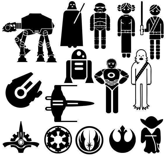 Bb8 clipart silhouette. Wars free star vector