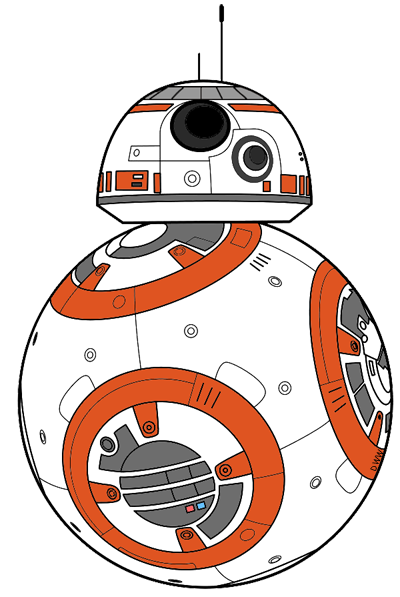 Bb8 clipart easy draw. Star wars the force