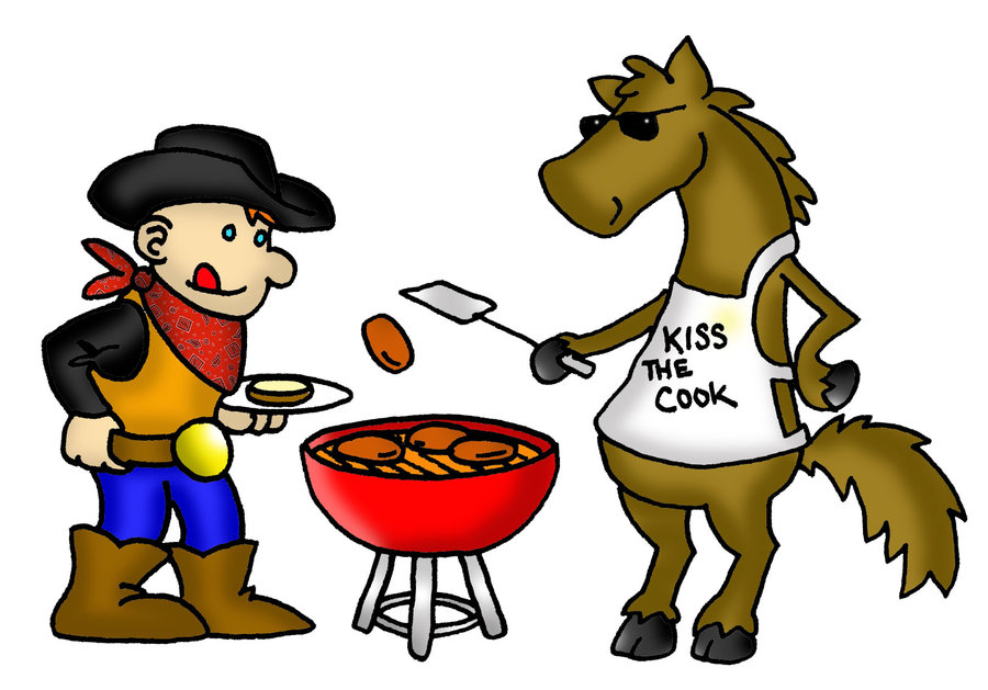 Cowboy . Bbq clipart western bbq svg library library