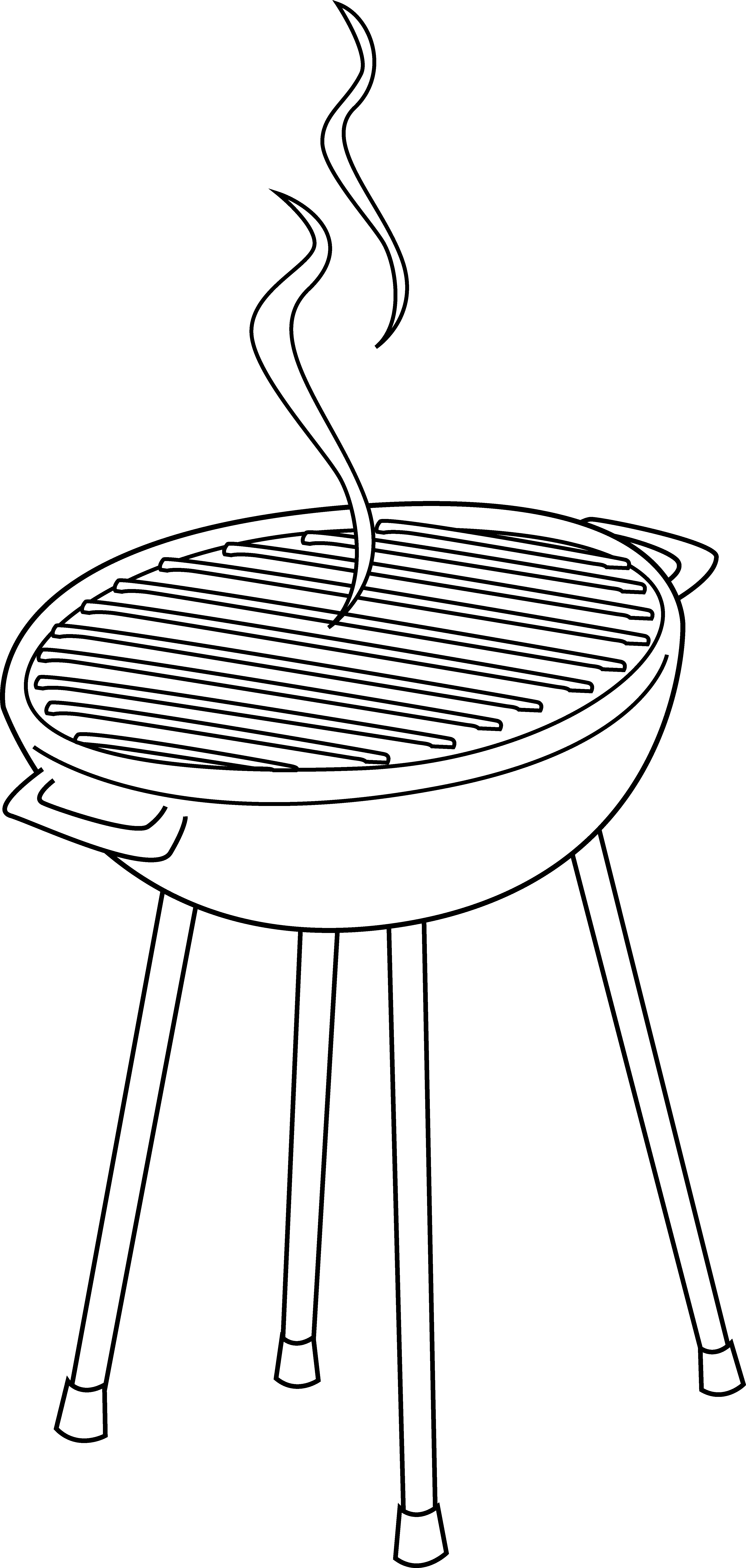 Barbecue vector bbq pit. Grill clipart drawn