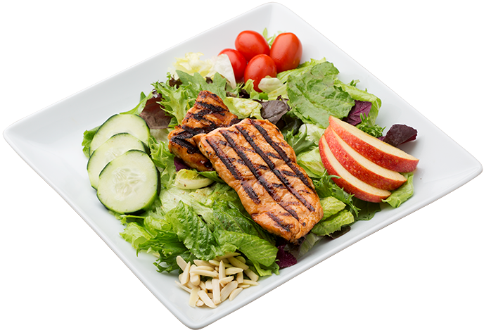 Salmon salad png. Waba grill menu nutrition