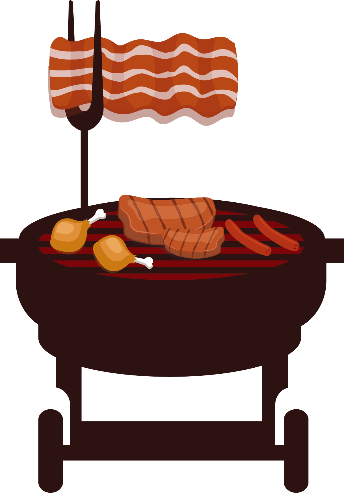 Bbq grill illustration png. Barbecue barbacoa churrasco beefsteak