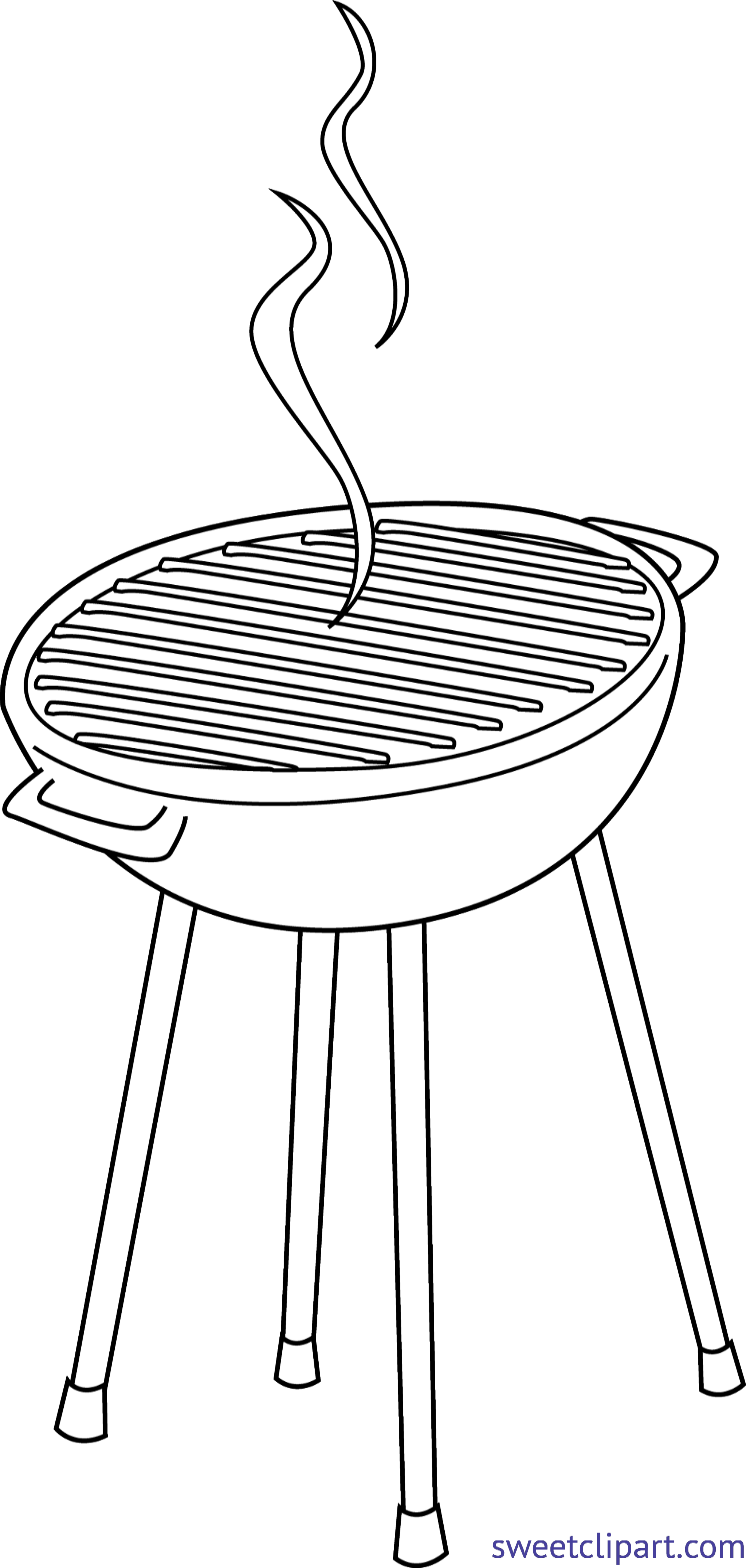 Bbq grill png clipart. Lineart clip art sweet