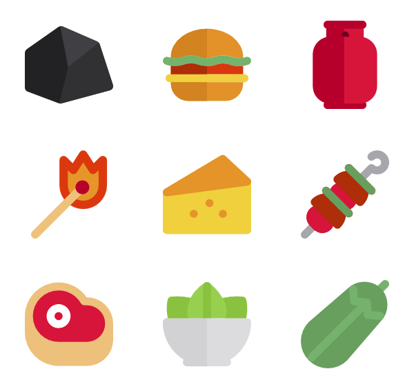 Grill icon png. Bbq packs vector