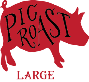 Pig roast png. Clipart group with items