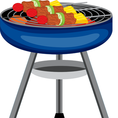 Bbq .png. Grill with fire clipart