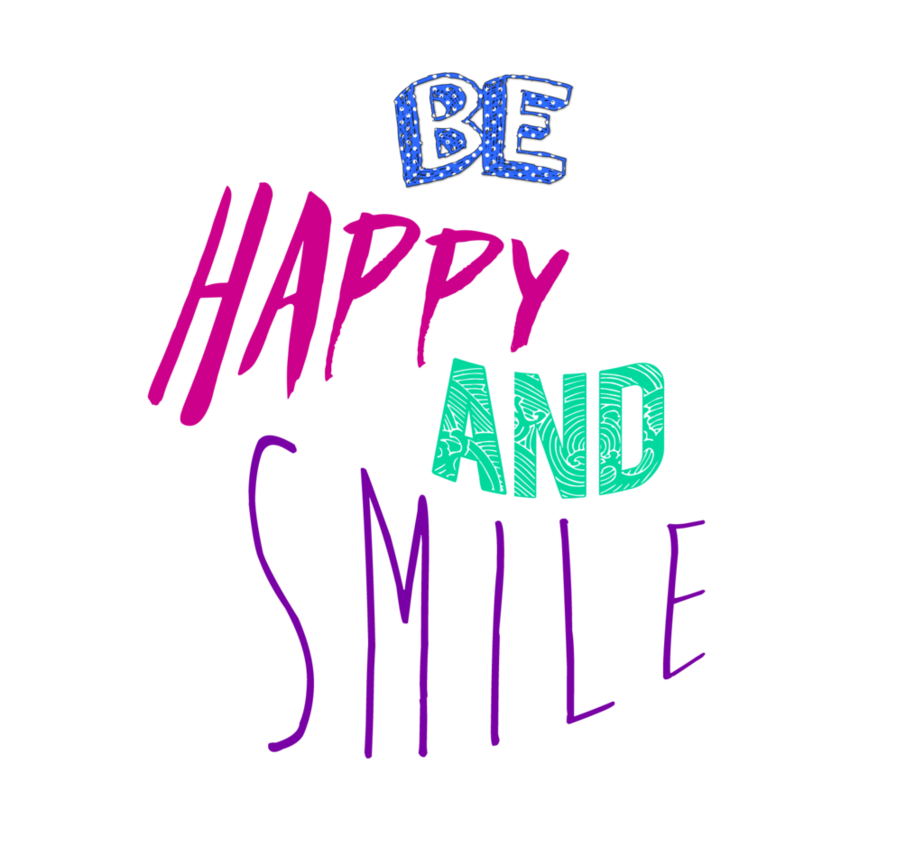 Be happy png. And smile by francoruggieri