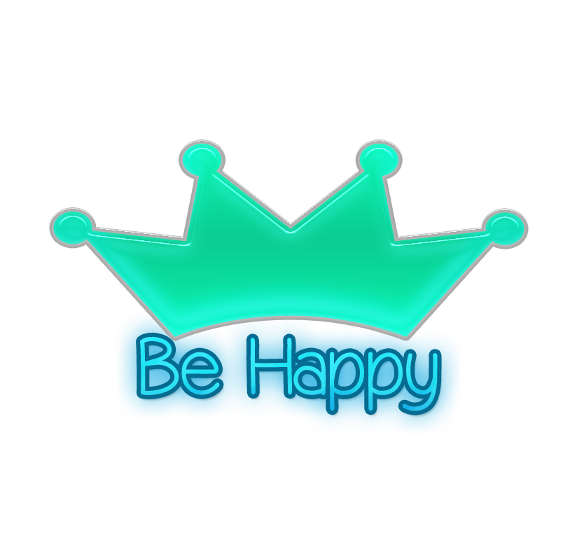 Be happy png. Texto by yuliedition on