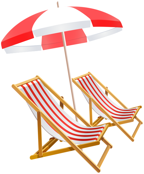 Beach umbrella and chairs. Vector chair summer image free library