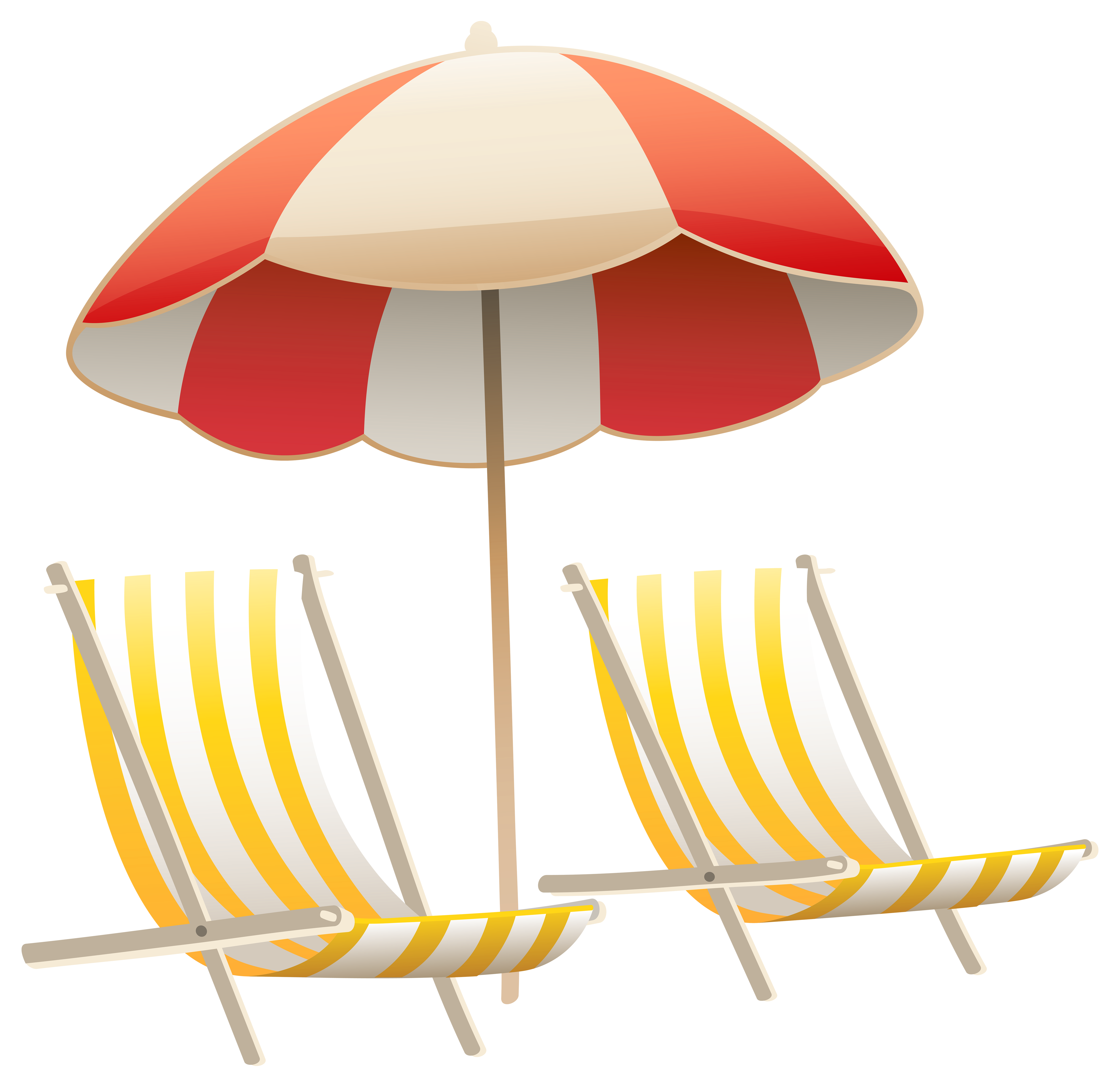Beach clip art png. Umbrella and chairs clipart
